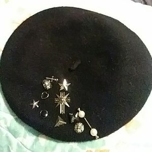 NWOT Bejeweled Beret From H&M